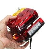 2 PCS LED Lumière Arrière Queue Lumière De Frein Arrêt Lumière Tournez Signal Plaque Numéro Lampe Pour Remorque Camion Véhicule Récréatif