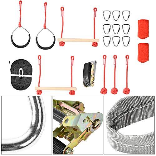 Slackline Rope Klettergerüst Kit Outdoor Baum Hängende Hindernisse Linie Zubehör Spielset