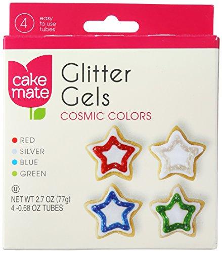 Cake Mate Gel Cosmic Glitter Tubes, 2.7 oz