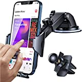 Andobil Car Phone Mount Easy Clamp, [Super Suction & Durable] Universal Dashboard Air Vent Windshield Hands-Free Phone Car Holder Compatible with iPhone 12 11 SE XR XS 8 Galaxy Note20 S21 and More