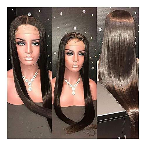 Femmes 4x4 Fermeture courte perruque droit brésilien dentelle naturelle perruques de cheveux humains perruque longue for les femmes pré plumé perruque pour les femmes Cosplay Party
