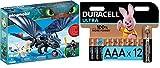 PLAYMOBIL DreamWorks Dragons HIPO y Desdentao con Bebé Dragón, a Partir de 4 Años (70037) + Duracell - Ultra AAA con Powerchek, Pilas Alcalinas (Paquete de 12) 1.5 Voltios