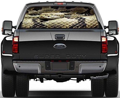 Rattlesnake Snake Rear Window Decal Graphic Sticker Car Truck SUV Van 574, Large