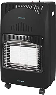 Cecotec Estufa Gas Ready Warm 4000 Slim Fold. Estufa Plegable, Cerámica, 3 Modos, Bombonas de 10 Kg, Triple Sistema de Seg...