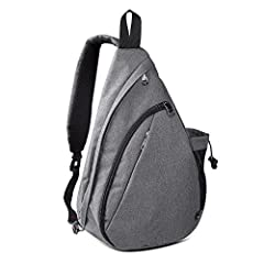 COMPACT YET SPACIOUS SLING BAG FOR MEN & WOMEN - Versatile backpack with room for all your essentials - perfect for urben, travel and outdoor and as carry on luggage. LIGHTWEIGHT CROSSBODY DESIGN - Made of a lightweight, STURDY MATERIAL. Room for cam...