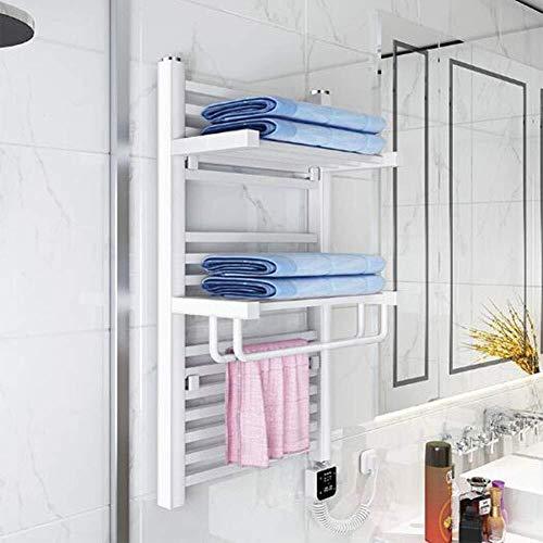 ZLININ Toalla Calentador eléctrico, Cambio de níquel Cepillado de Acero Inoxidable climatizada toalleros Tendedero climatizada 400W