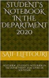 Student's notebook in the department 2020: notebook ,Student's notebook in the department 2020, livre de souvenir (English Edition)