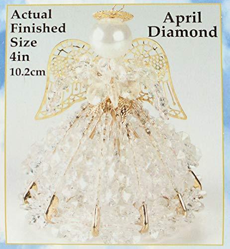 Birthstone Angel Christmas Ornament Kit 12 Colors/Months (April)