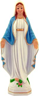 Hand Painted Plastic Our Lady of Grace Blessed Mother Mary Figurine Statue, 6 Inch