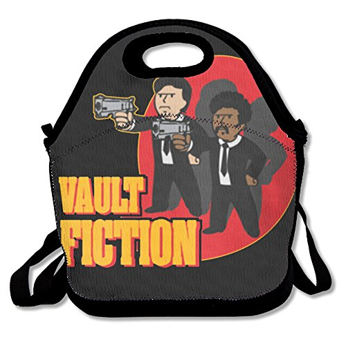 Fallout 4 Vault Fiction Casual Leichter College Rucksack Laptop Tasche Schule Reisen Daypack schwarz Schwarz  Einheitsgröße