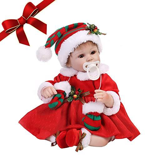 55cm noël réaliste poupée reborn stand-up simuler silicone accompagner habiller poupée jouet enfants jouer maison jeux cadeau de noël poupée reborn doux vinyle de poupée réaliste à la main bébé Noël
