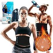 Sports Laboratory Bauchweggürtel für Gewichtsverlust für Männer & Frauen Schwarz Verstellbar Bis Zu Eine Größe Passt Meistens mit kostenlosem Bag & Guide