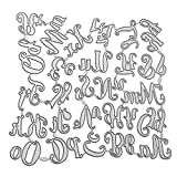 Fustelle Punzonatura stencil lettere grandi e piccole,Fustella in metalliche alfabeto goffratura per artigianato fai-da-te album per scrapbooking taglio carte di carta,decorazione per album embossing