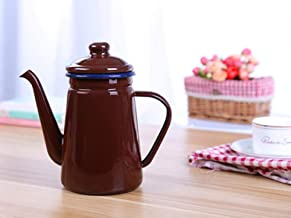 Emaille Waterkoker 1.1L Emaille Koffiepot Oiler Waterkoker Email Waterkoker Email Pot Koude Waterkoker 1.1L Koffiepot Thee...