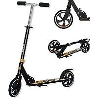 Best Sporting Scooter 200er Rolle EST Sporting-Patinete (200 Unidades, Altura Regulable de 92-96-102 cm), Color Negro y Naranja
