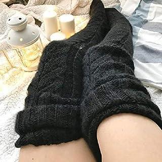 superchao, Las mujeres medias de lana ocasionales largas botas calcetines sobre la rodilla muslo medias calentadores de pierna