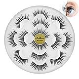 InBrave False Eyelashes Natural Soft Light Volume 7 Pairs Multipack (Reusable for 100 times)