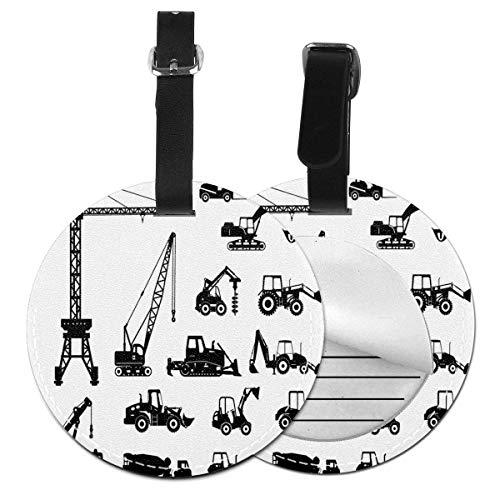 JS-TP Siluetas negras hormigoneras máquinas industriales co