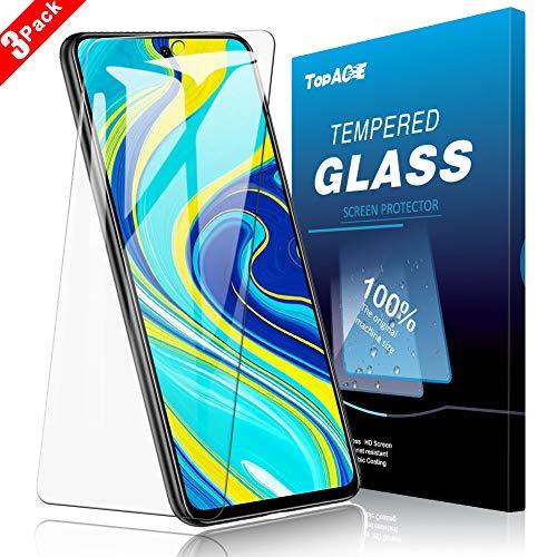 TOPACE PanzerglasFolie für Xiaomi Redmi Note 9S/Note 9 Pro/Note 9 Pro Max, 3 Stück, 9H Härte Panzerglas Schutzfolie, HD Klar Displayschutzfolie, [Anti-Kratzen] [Blasenfrei][Einfacher Montage]