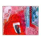 Raoul Dufy Pintura al óleo clásica 'Violín' Reproducción de impresión en lienzo.Cuadro de arte de pared de lienzo para decoración de sala de estar 20x24cm (8x10in) sin marco