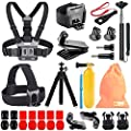 Kitway 65-in-1 Action Camera Accessories Kit for GoPro HERO9, Compatible with GoPro Max, Hero 8 7 6 5 4 3+ 3 2 1/EK7000/Wewdigi EV5000/DBpower N6/Crosstour (Accessories for Action camare) by kitway
