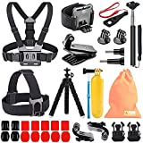 Kitway Camera Accessories Kit for GoPro HERO9, Compatible with GoPro Max, Hero 8 7 6 5 4 3+ 3 2 1/EK7000/Wewdigi EV5000/DBpower N6/Crosstour (Accessories for Action camare)