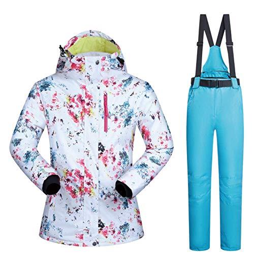 BCOGG Skianzüge Frauen Winter Schneeanzug Weibliche Skifahren Und Snowboarden Kleidung Winddicht Wasserdicht Outdoor Sports Jacken Und Hosen M