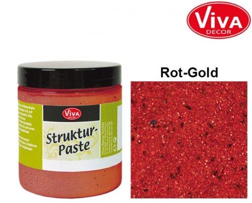Viva Decor Pâte à Structure 25 ML Or Rouge, Acrylique, Multicolore
