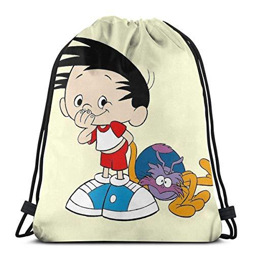 XCNGG Boku No Hero Academia Chibi Mochila Deportiva Plegable Impermeable Bolsa de Gimnasio Saco Mochila con cordón