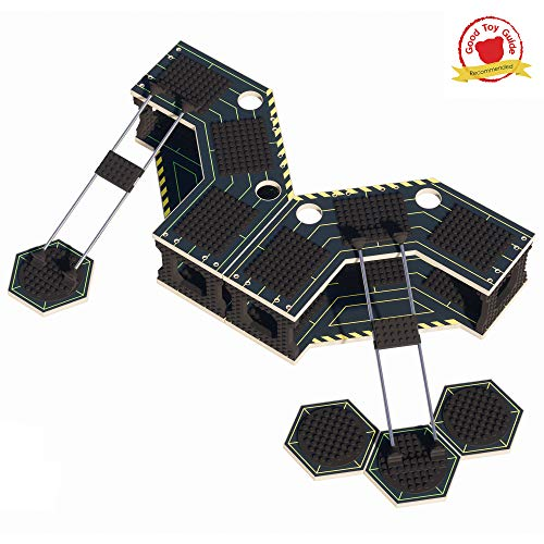 Base Ace 3D Play Platforms for Mini Figures, Pack of 2 EVO Kits with Yellow and Green lines, Compatible with all Leading Construction Toy Building Brick Brands.