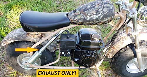 ARSPORT Exhaust with Muffler for: Coleman CT200U-EX Camo 196cc/6.5HP Gas Mini Bike.
