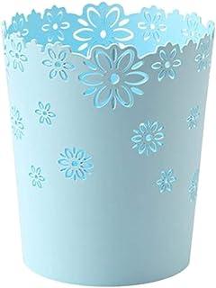 Fablcrew Corbeille à Papier Poubelle Fleur Decorative Corbeille Vintage sans Couvercle pour Cuisine, Salle de Bain, Salon,...