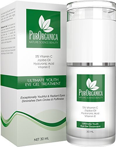 PurOrganica Eye Cream - Limited Edition - for Dark Circles, Puffiness, Eye Bags and Wrinkles –...