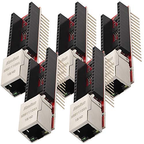 AZDelivery 5 x ENC28J60 Ethernet Shield para Arduino Nano V3.0 con eBook incluido