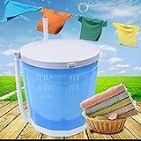 Mini lavadora portátil 2 en 1 para camping, soltero/viaje, ligera, 2 kg