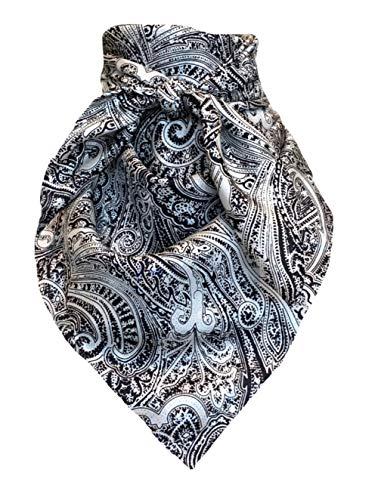 Wyoming Traders Wild Rag Silver Black Paisley, Multi, Large