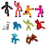Zing StikBot Family Plus Animals Pack - Stop Motion Action FIgures