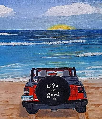 Pintura colorida del coche pinturas al óleo acrílicas por números pintado a mano DIY digital lienzo pintado regalo decoración de la pared del hogar A14 40x50cm