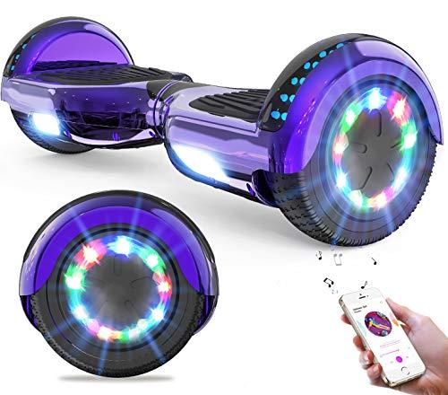 GeekMe Hoverboard Auto bilanciamento Scooter 6.5 '' Regalo per Bambini e Adulti - Bluetooth Altoparlanti LED luci 2 * 350W…
