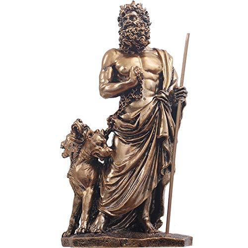JYJYJY Estatuas Figuritas Decoración Escultura Figuritas Decorativas Hades Retro Decoración Resina Dios Griego Modelo De Personaje Escultura Guerrero Caballero Bar Sala De Estar Decoración