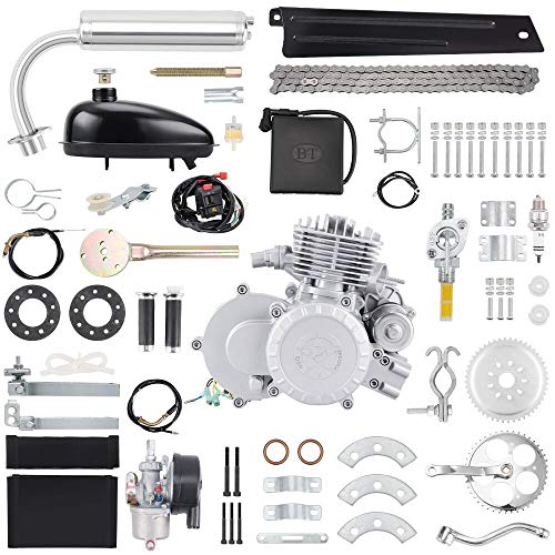 "Anbull BT80 Electric Start Bike Engine Kit, 26"" 28"" 80cc Bicycle Engine Kit,2-Stroke Gas Motorized Bike Motor with Automatic Centrifugal Clutch"