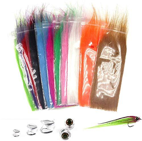 Greatfishing 12packs Mix Color Long Fiber Fly Tying Materials Streamer Fly Tying Material