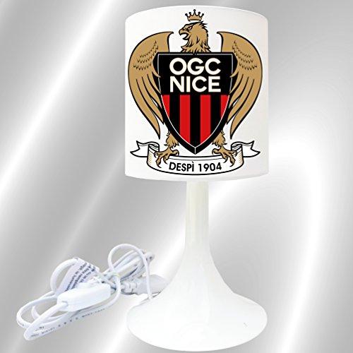 Lampe de chevet de création - Lampe à poser enfant - SPORT - Foot (OCG Nice (1))
