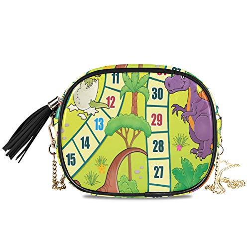 Brettspiel mit Dinosaurier Thema 1 Eps10 Vector Il Damen Abend Umhängetaschen für Frauen Formelle Party Damentasche Damen Handtaschen Dekoration für Mädchen Mini Rucksack Geldbörse für Frauen 7.48x5.