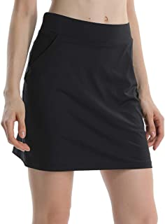 Women's Athletic Stretch Skort Skirt with Shorts and Pocket for Running Tennis Golf Workout