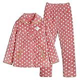 DFDLNL Conjunto de Pijama de Invierno para Mujer, Ropa de Dormir cálida de Franela de algodón Grueso de Tres Capas, Ropa para el hogar, Traje para Mujer XXL