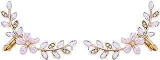 BEAUTYCHOU Pendientes Pendientes De Perlas con Flores De Diamantes Al por Mayor Pendientes De Temperamento para Damas