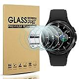 Diruite Protector de pantalla para Samsung Galaxy Watch 4 Classic 46 mm Protector de pantalla de vidrio templado para Samsung Galaxy Watch 4 Classic 46 mm [dureza 9H] [antiarañazos]