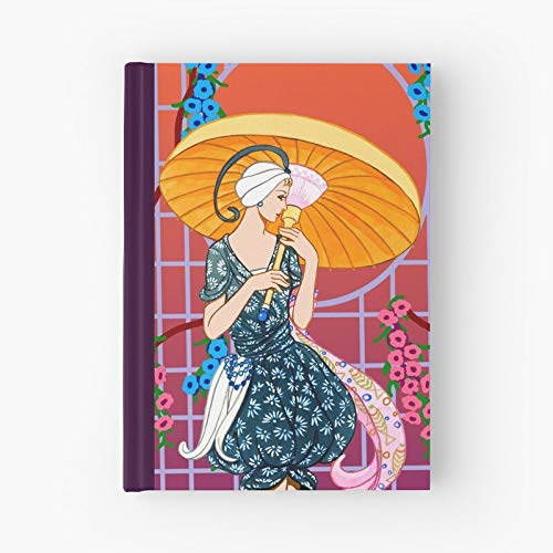 Landscape Retro Garden Dusk Sunset Flower Dawn Vintage Hardcover Bound Sketch Notebook With Premium Thick Paper