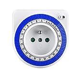 AmazonBasics Mini minuterie pour prise électrique 24 heures, Segment mécanique, Pour économiser...